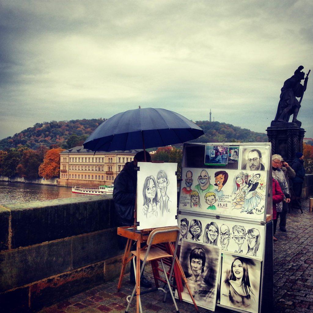 Prag Karluv Most Köprüsü Sanatçıları