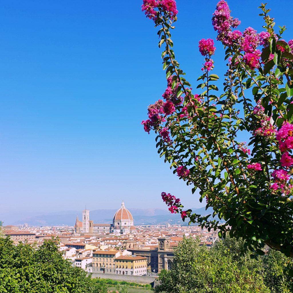 Floransa'daki Michelangelo tepesinden şehir manzarası