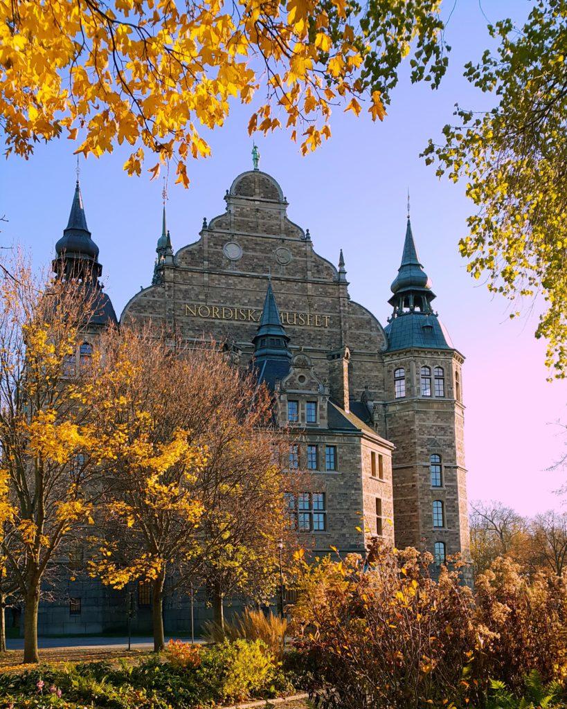 Stockholm'de gezilmesi gereken birçok müzeden biri olan Nordiska Museet.