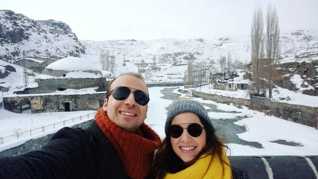 Kars Taş Köprü Üzerinde
