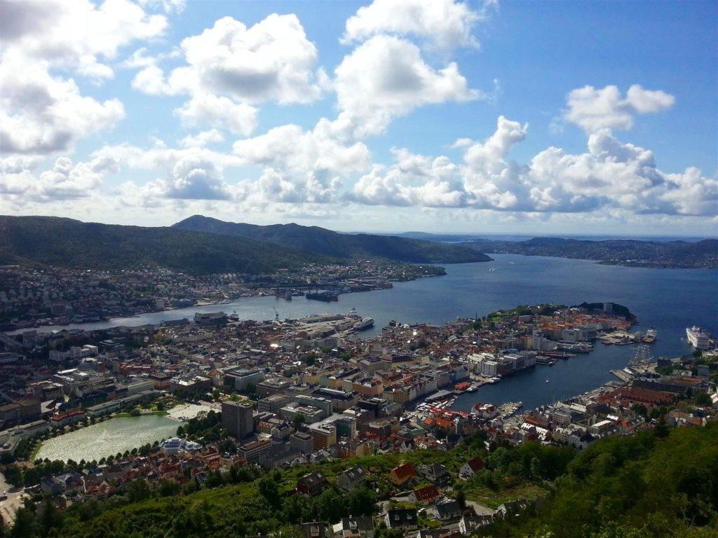 Floyen tepesi Bergen manzarası