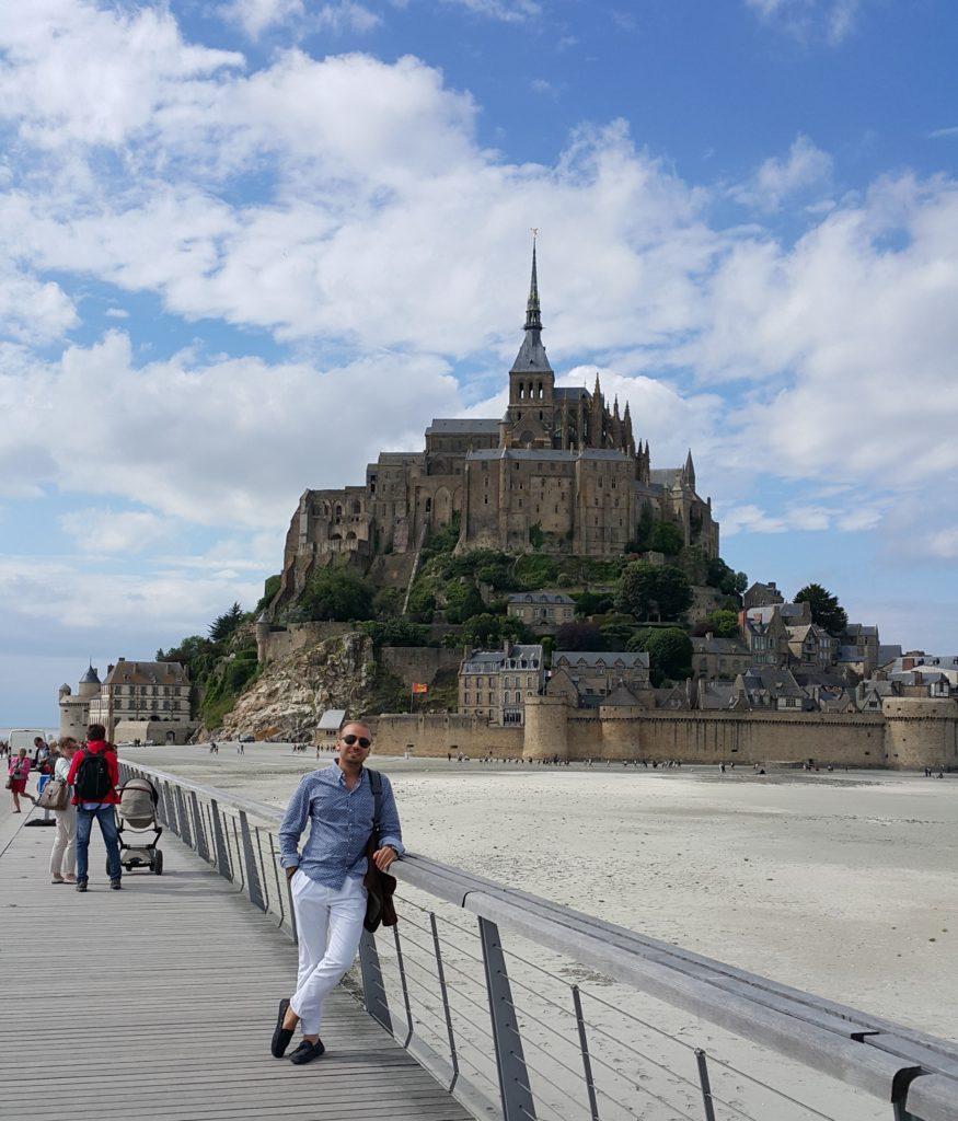 Mont Saint Michel Köprüsünden