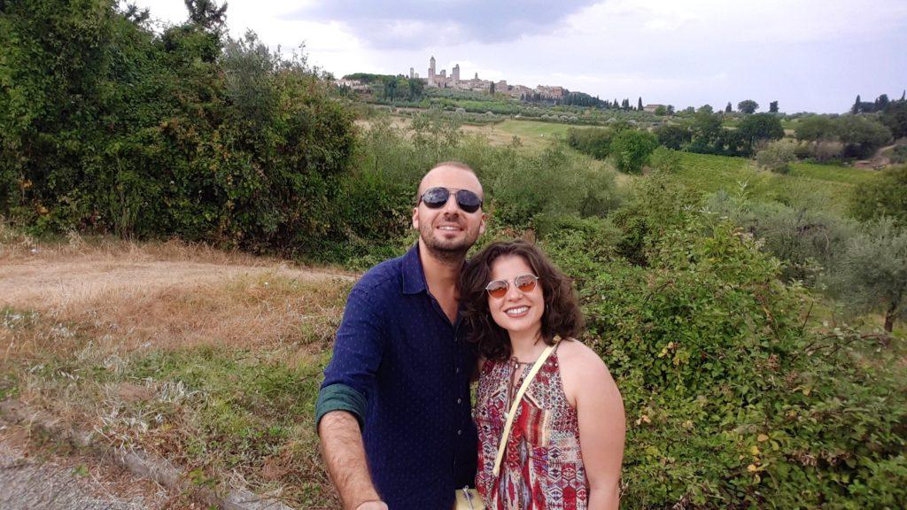 San Gimignano manzarasıyla selfi :)